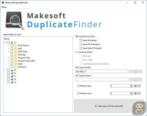 Makesoft DuplicateFinder 1.1.9 B190321 - حذف کردن فایل های تکراری