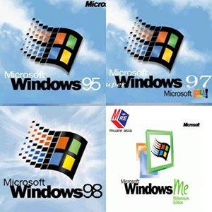 دانلود مجموعه ویندوز های قدیمی Windows 95,98,ME