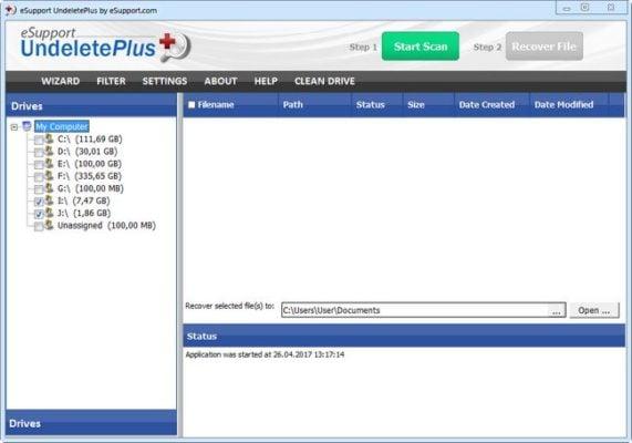 دانلود eSupport UndeletePlus 3.0.8.1125 - نرم افزار بازیابی آسان فایل ها