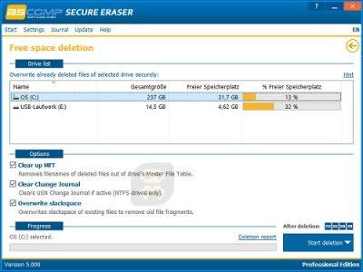 دانلود Secure Eraser Professional Edition 5.211 - پاکسازی غیرقابل بازگشت فایل ها