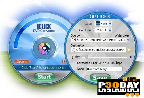 1CLICK DVD Converter 3.1.2.8 - One-click DVD Burning Software