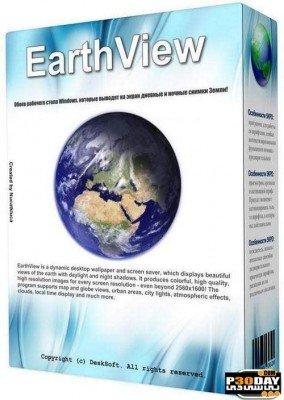 Desksoft EarthView 4.5.19   پس زمینه زنده کره زمین در دسکتاپ