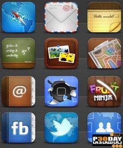 دانلود مجموعه 284 آیکن بسیار زیبا و جذاب گوشی iPhone