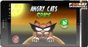 دانلود بازی بسیار زیبا Angry Cats Space آندروید