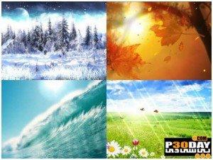 دانلود اسکرین سیور فوق العاده Four Seasons Screensaver v1.0