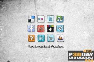 دانلود 12 آیکن گرافیکی و فوق العاده شبکه های اجتماعی