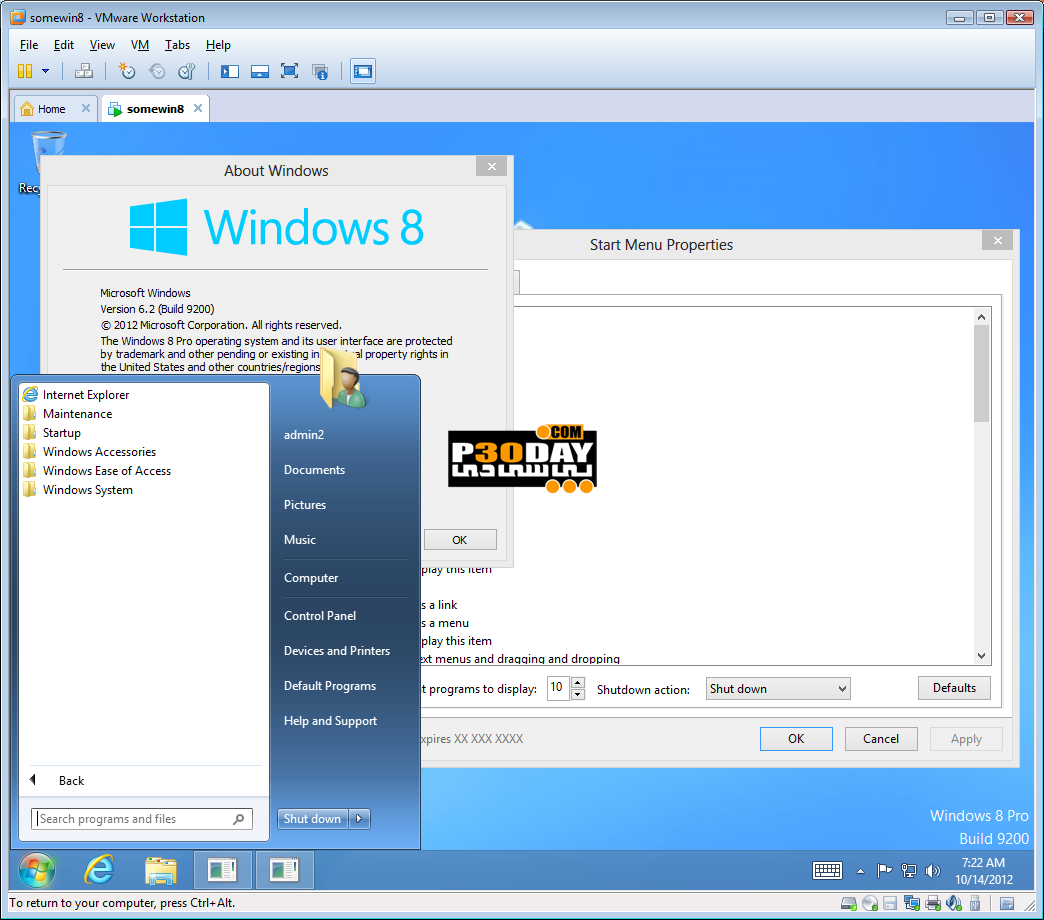 Restore Start Menu To Windows 8 - StartIsBack ++ 2.8 Final