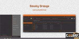 دانلود تم بسیار زیبای Smoky Orange برای ویندوز 7