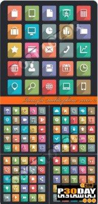 دانلود مجموعه وکتورهای زیبای Icons For Mobile Phone