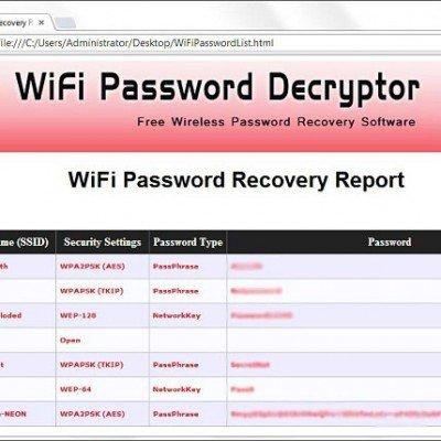 دانلود WiFi Password Decryptor 13.0 – بدرست آوردن رمز های وایرلس سیستم