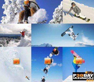 دانلود تم ورزشی و زیبای Extreme Snowboard Theme برای ویندوز 7