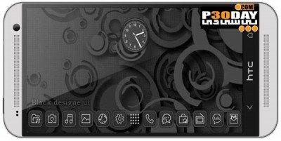 دانلود تم زیبای آندروید Next Launcher Black Designe v1.2