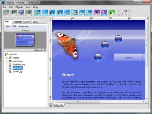 دانلود Antenna Web Design Studio 7.1 - نرم افزار ساخت صفحات وب