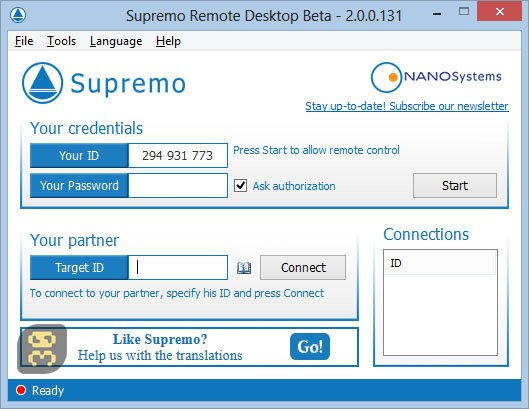 Supremo Remote Desktop 4.0.3.2214 Final - Remote Desktop Software