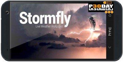 دانلود لایو والپیپر آب و هوا Stormfly v1.8 آندروید