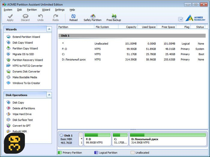 AOMEI Partition Assistant Pro 8.5 - Easy Hard Disk Partitioning