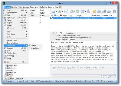 دانلود The Bat! Professional 9.2.2 - مدیریت آسان ایمیل ها