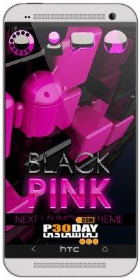 دانلود تم زیبای Pink Magic NEXT Launcher Theme v1.0 اندروید