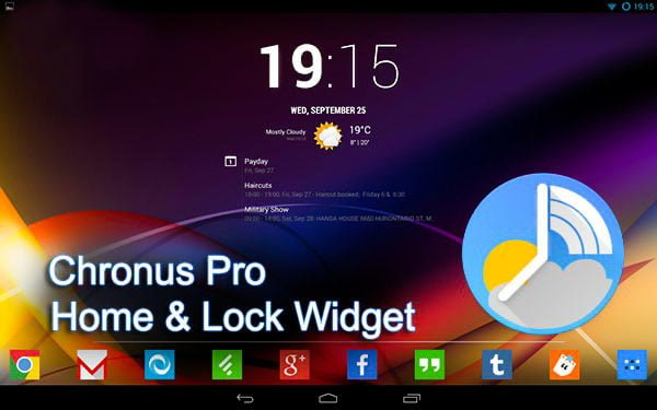 دانلود Chronus: Home & Lock Widgets v15.1.1 - ویجت کرونوس