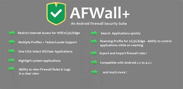 دانلود AFWall+ v3.4.0 - برنامه فایروال اندروید