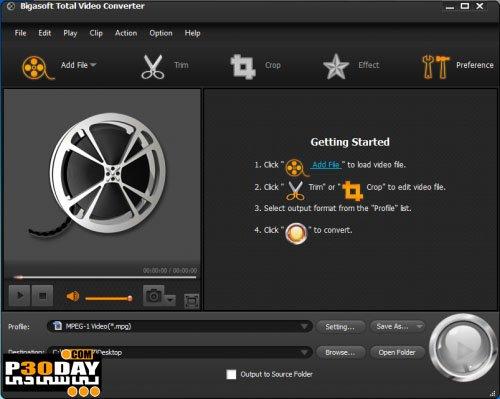 Bigasoft Total Video Converter 6.2.0.7269 - Convert Video To Total Video Format