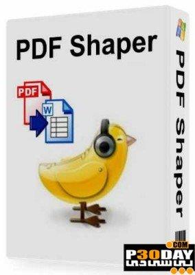 نرم افزار تبدیل فرمت اسناد PDF با PDF Shaper 2.8.0