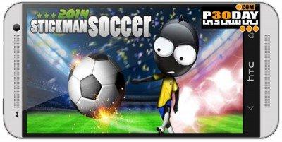 بازی فوتبال زیبا Stickman Soccer 2014 v1.6 اندروید