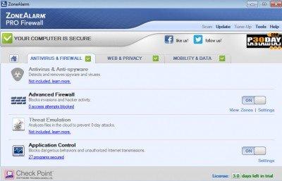 ZoneAlarm Pro Firewall 2015 sc