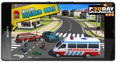 دانلود بازی اندروید Ambulance Rescue Simulator 3D v1.0.1