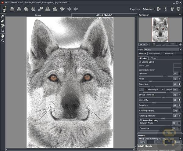 AKVIS Sketch 19 0 3151 - Photoshop Plugin Convert To