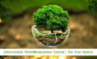 Photoshop Tutorial Video - Spherical Tree Design