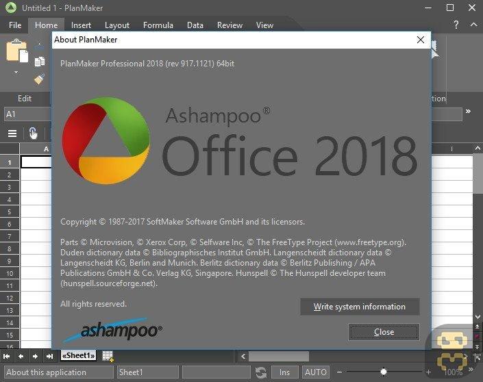Ashampoo Office PRO 2018 Rev 944.1213 - Office Asampoo