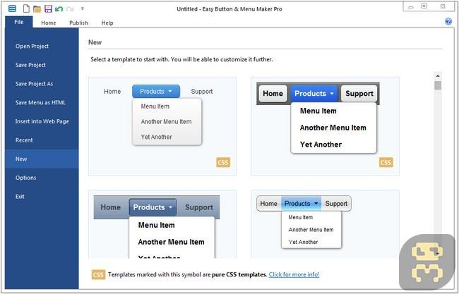 Blumentals Easy Button & Amp; Menu Maker Pro 4.3.0.29 - Making Buttons
