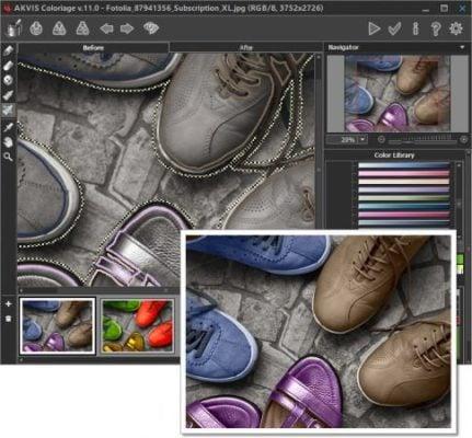 دانلود AKVIS Coloriage 11.5.1290.17434 - تبدیل عکس سیاه و سفید به رنگی