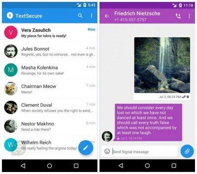 دانلود Signal Private Messenger 4.13.0 - چت سریع با مسنجر سیگنال اندروید