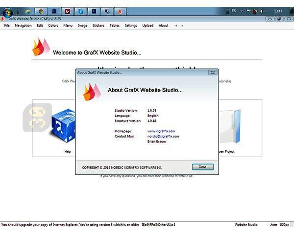 GrafX Website Studio 3.7.57 - Website Design And Implementation