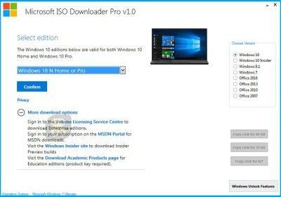 دانلود Microsoft ISO Downloader Pro 2019 2.0 - نرم افزار دانلود ایمیج های ویندوز