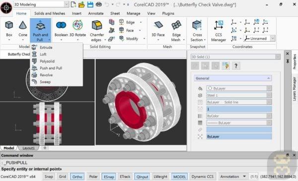 دانلود CorelCAD 2019.5 v19.1.1.2035 - طراحی حرفه ای صنعتی