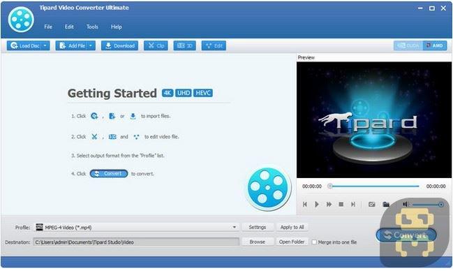 Tipard Video Converter Ultimate 9.2.58 - Video Format Converter