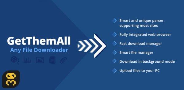 GetThemAll 2.42 - دانلود فایل های وبسایت ها در اندروید