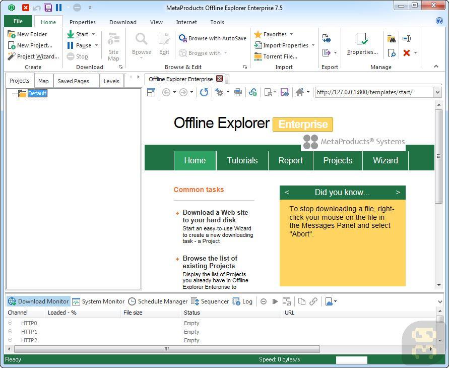 MetaProducts Offline Explorer Enterprise 7.7.4642 - Offline Browsing