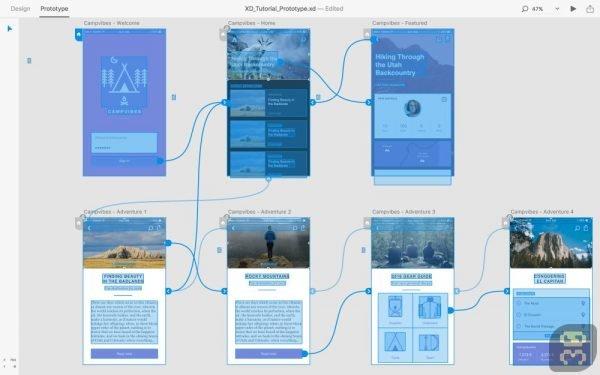 دانلود Adobe XD CC 2019 v24.3.22 - طراحی رابط کاربری و تجربه کاربری