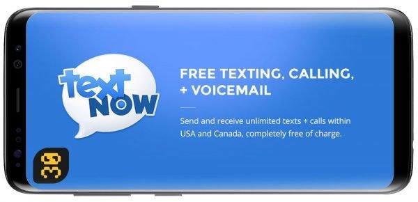 دانلود TextNow v6.42.0.2 Premium برنامه تکست نو اندروید