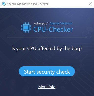محافظت از پردازنده کامپیوتر با Ashampoo Spectre Meltdown CPU Checker v1.0.0.7