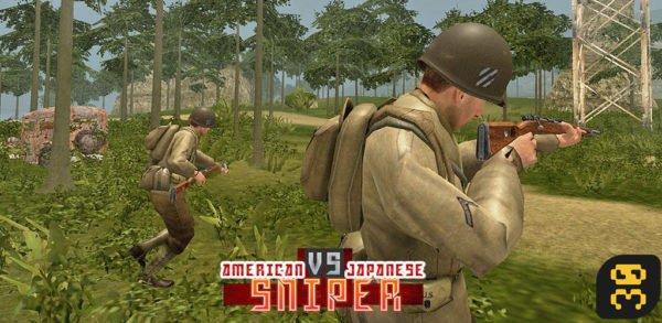دانلود American vs Japanese Sniper 1.1.4 - تقابل اسنایپر های آمریکایی و ژاپنی اندروید
