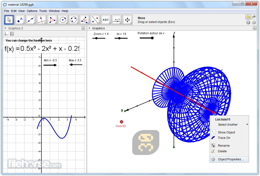 GeoGebra 6.0.512.0 - Geometric Shaping And Drawing