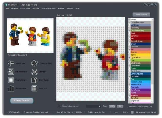 دانلود Legoaizer v6.0 Build 218 - ساخت تصاویر آجری موزاییکی