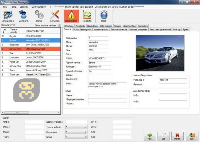 Vehicle Manager 2018 2.0.1174.0 - Car Service Management
