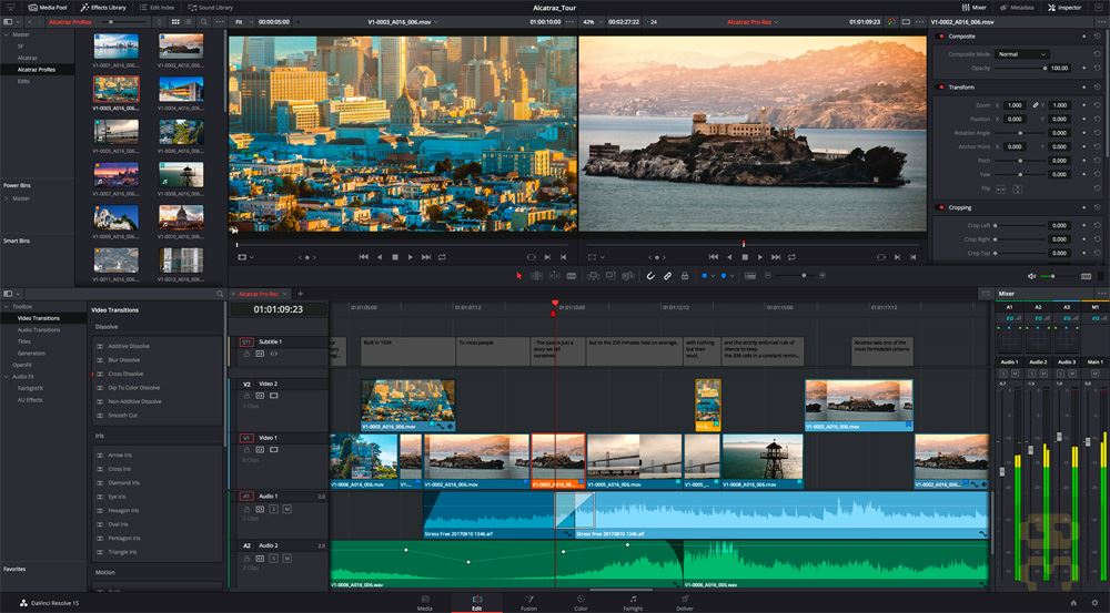 Blackmagic Design DaVinci Resolve Studio 16.1.1.5 - Hollywood Video Editing