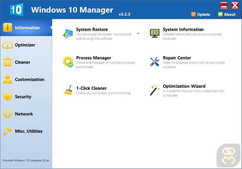 Yamicsoft Windows 10 Manager 2 3 2 - Speed up Windows 10